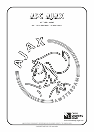Cool Coloring Pages Soccer Clubs Logos Afc Ajax Logo Coloring