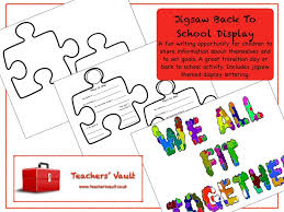 jigsaw activity. jigsaw back to school display by helenrachelcrossley - teaching resources tes activity