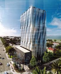 office block design. Grosskopf Plans 17-Story Arquitectonica Office Building Across From Porsche Design Tower In Sunny Isles Block A