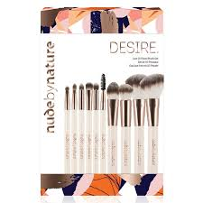by nature desire luxe 10 piece brush set nourished life australia