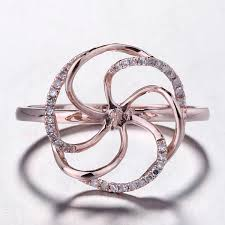 2019 <b>HELON</b> Solid 14K Rose Gold <b>Pave Natural Diamond</b> ...
