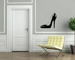 y high heel shoe hot stis wall decor mural vinyl decal art sticker m572