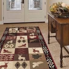 allegro diamond deer novelty lodge ter brown red area rug rug size rectangle 5 3 x 7 3