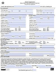 Application Form For Rental Rental Application Form Real Estate Forms