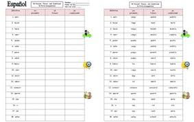 Spanish Verb Chart 18 Present Future And Conditional Yo Form Conjugations