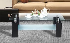 royaloak atlas coffee table with tempered glass top