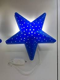ikea childrens lighting. IKEA CHILDREN BLUE STAR BEDROOM WALL LIGHT/LAMP Ikea Childrens Lighting A