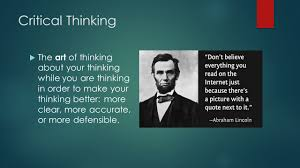 critical thinking   THE CRITICAL THINKER Creative Problem Solving