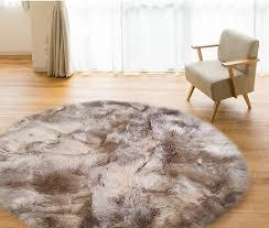 wonderful round fur rug cievi home inside sheepskin area rug popular