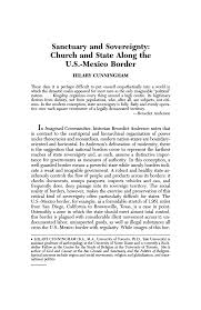 Sanctuary and Sovereignty: Church and State Along the U.S.-Mexico Border