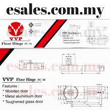 vvp fc 34 model 20 floor door hinge