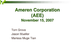 Ameren Light Company Number Ppt Ameren Corporation Aee November 15 2007 Powerpoint