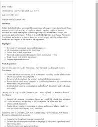 Hr Coordinator Cv Sample Professional Human Resources Coordinator Templates To
