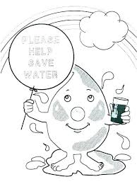 Water Conservation Colouring Sheets Water Conservation Coloring