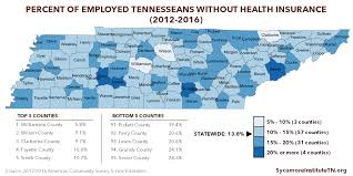 Medicaid Chart Income 2016 How Uninsured Rates In Tennessee Counties Vary By Employment