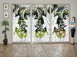 image of nice window treatments sliding glass doors