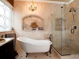 inexpensive bathroom designs. Small Bathroom Remodel On A Budget Brown Ceramic Tile Floor Walk In Shower Room Grey Granite Countertops White Rectangular Bathtub Near Sink Cream Inexpensive Designs