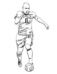 Voetballers Nederlands Elftal Kleurplaten Arjen Robin
