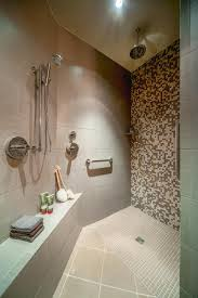 Roman Shower Designs The Pros And Cons Of A Doorless Walk In Shower Design When