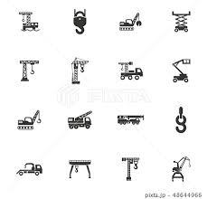 Crane And Lifing Machines Icon Setのイラスト素材 48644966 Pixta