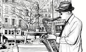 Resultado de imagen de músico en la calle saxo