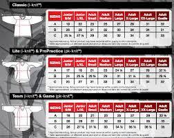Reebok Authentic Hockey Jersey Size Chart