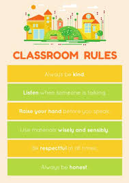 classroom rules template colorful classroom rules poster templates by canva