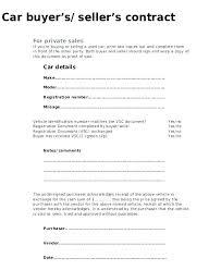Car Sale Agreement Sample Used Vehicle Sales Template