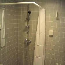 installing shower rod l shaped shower rod installation install curved shower rod on tile installing shower installing shower rod