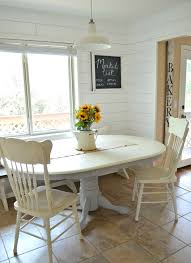 white and black dining room table. Breakfast Nook And Painted Antique Dining Table White Black Room