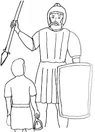 Bible Story Coloring Page For David And Goliath Free Bible Stories