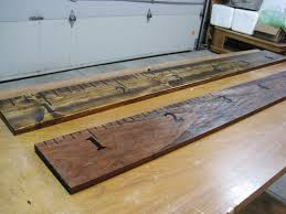 How To Mark A Wooden Growth Chart Ready To Grow Diy Oversized Ruler Growth Chart Loving Here