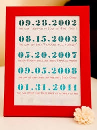 here s a lovely set of framed dates from kojo designs