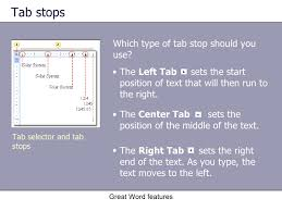 type of tab microsoft office word 2003