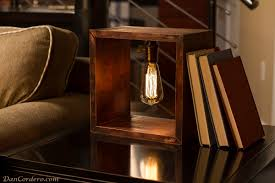edison table lamp vintage home lighting. Shadow Box Edison Table Lamp - Wood-lamps, Table-lamps Vintage Home Lighting S