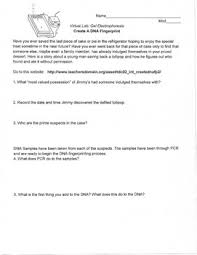 Dna Fingerprinting Lab Answers Dna Fingerprint Worksheet Worksheets For All Download And Share