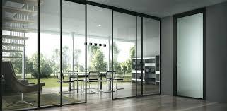 large glass sliding doors fire rated door pocket
