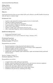 industrial electrician resume resumes cover letters template sample electrical technician cover letter