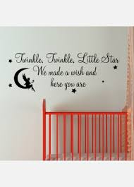 >nursery rhyme wall stickers twinkle twinkle little star we made a wish and here you are wall sticker