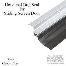 universal fit bug seal for sliding screen door 7 or 8 feet black