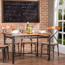 wood metal dining table. Baxton Studio Broxburn Light Brown Wood And Metal Dining Table