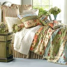full quilt set garden dream queen quilt set country cottage rag patch fl comforter full size bedding sets king size quilt sets on