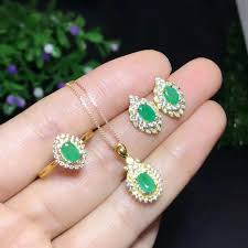 2019 natural and real emerald jewelry set natural real emerald 925 sterling silver pendant ring earring from zeipt 389 61 dhgate com