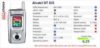 Alcatel OT 835 :: GSMchoice.com