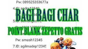 Unknown june 29, 2020 at 2:04 pm. Bagi Bagi 15 Akun Point Blank Zepetto Gratis Terbaru 2020 Youtube