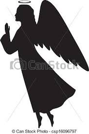christmas angel silhouette clip art. Christmas Angel And Silhouette Clip Art
