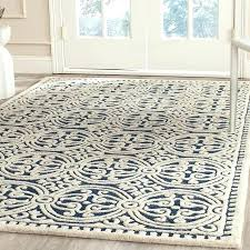 wool jute rug house of hand tufted wool navy ivory area rug inside rugs plans 7