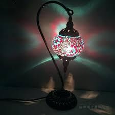 aqua glass table lamp teal glass table lamp aqua sea aqua desk lamp stacked glass table