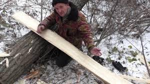 Охотничьи лыжи Ч 1 вырубаем заготовки - YouTube