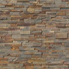gold rush ledger corner 6x6x6 natural slate wall tile